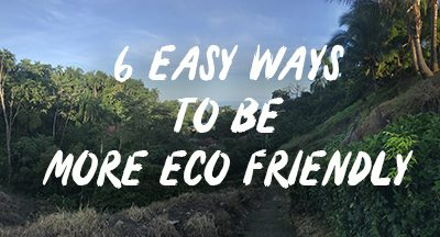 6 easy ways to go Eco in your everyday life