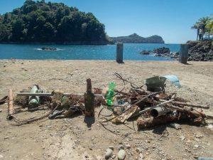 Plastic after a dive againest debris